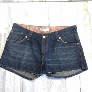 Levi's 504 Slouch Low Rise Jean Shorts Size 17